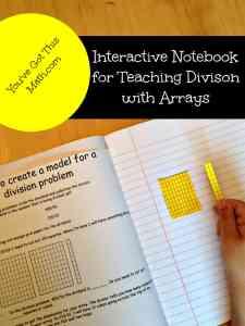 teach division with arrays