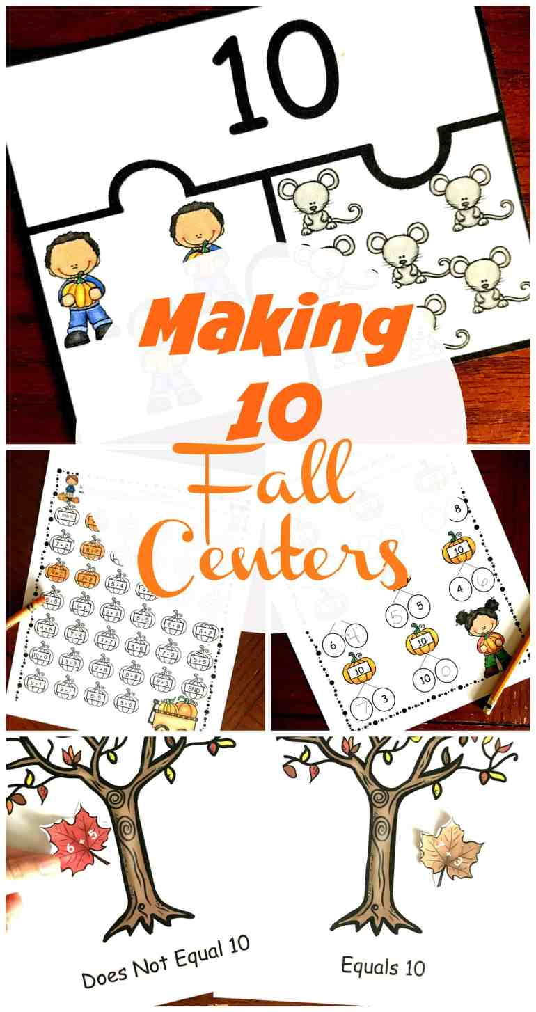 Want to help your students master making 10? Check out these engaging fall activities designed to help your students explore adding to 10.