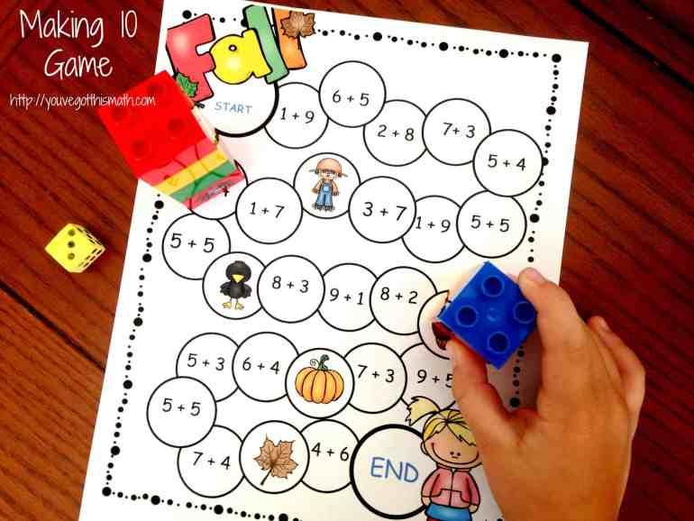 making-10-game-board