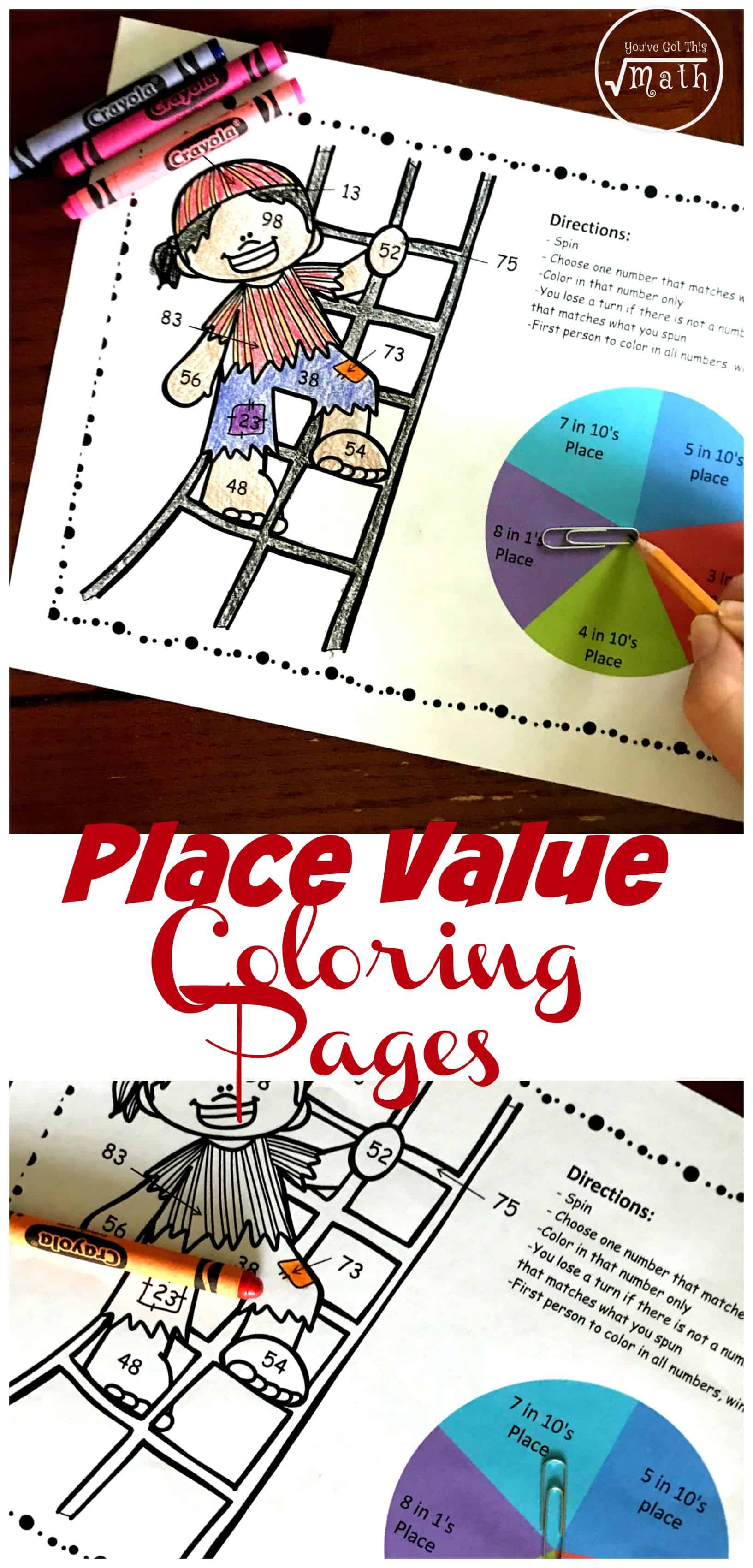 Do your students need to practice place value but want something better than worksheets? Get in some practice in with this fun color by number game. These fun place value coloring page is a great way to work on which digit is in the tens, hundreds, and thousands.