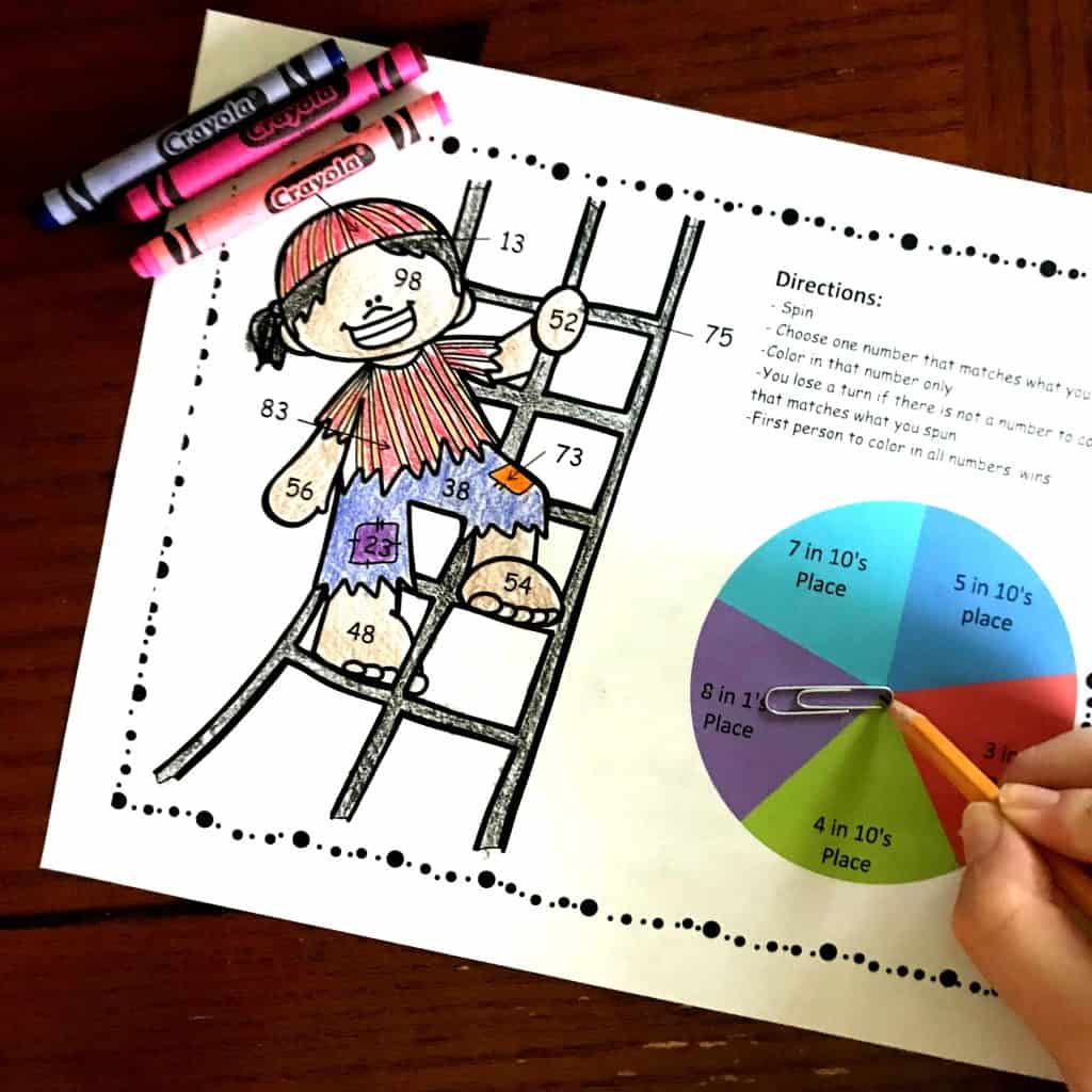 A Fun Place Value Coloring Page To Practice The Value Of