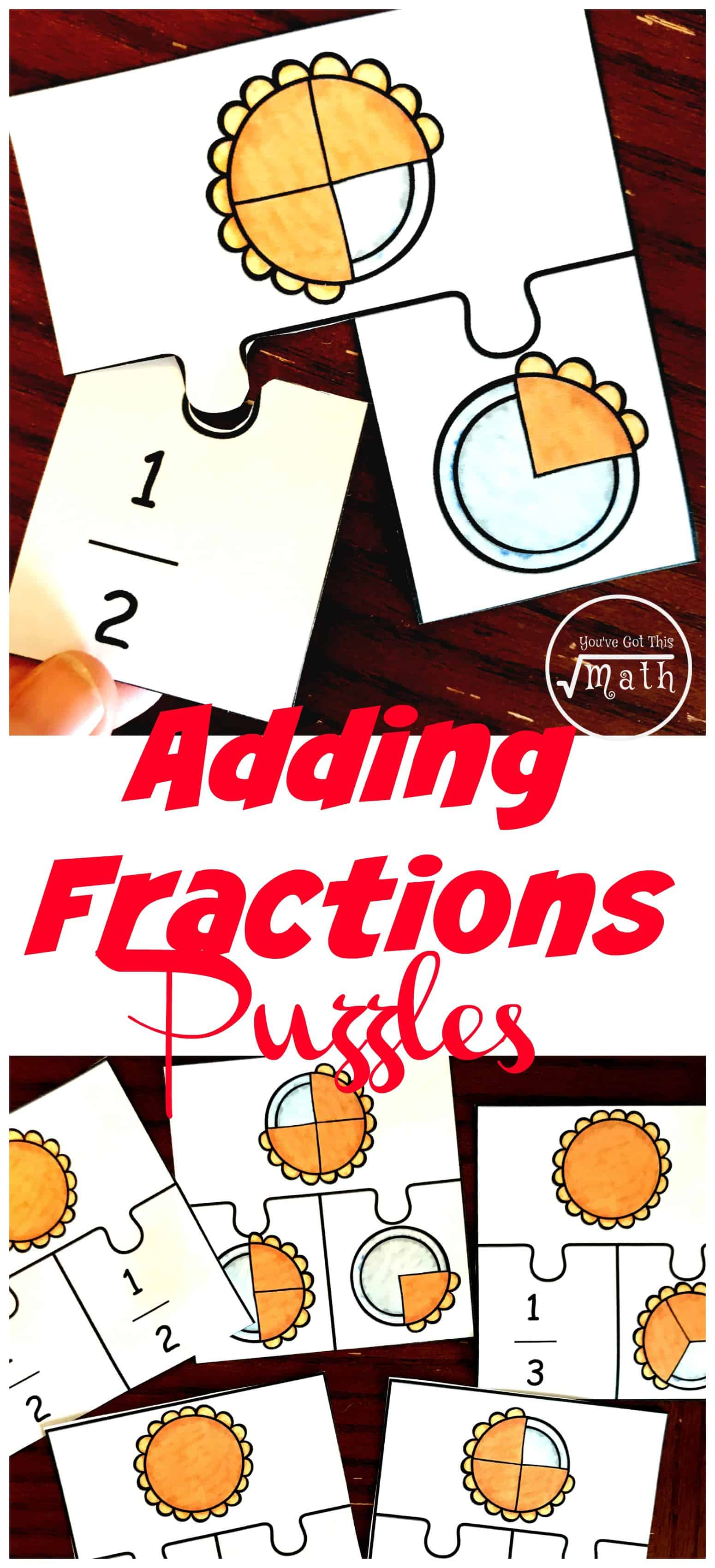 Adding fractions can be confusing for some students. Help them by modeling addition of fractions with these free pie puzzles.