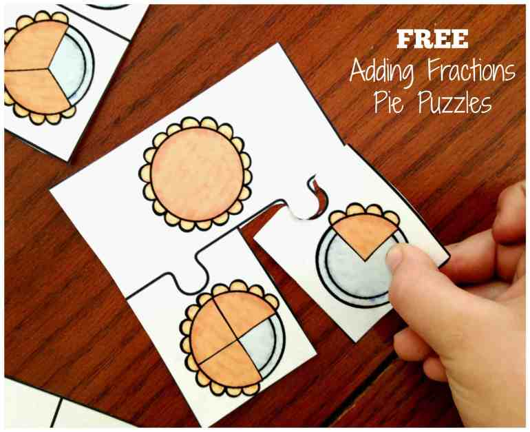free-adding-fraction-pie-puzzles