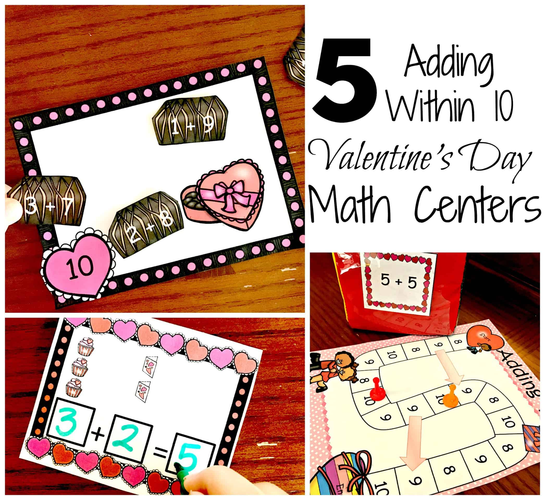 5 Valentine S Day Math Centers For Adding Within 10