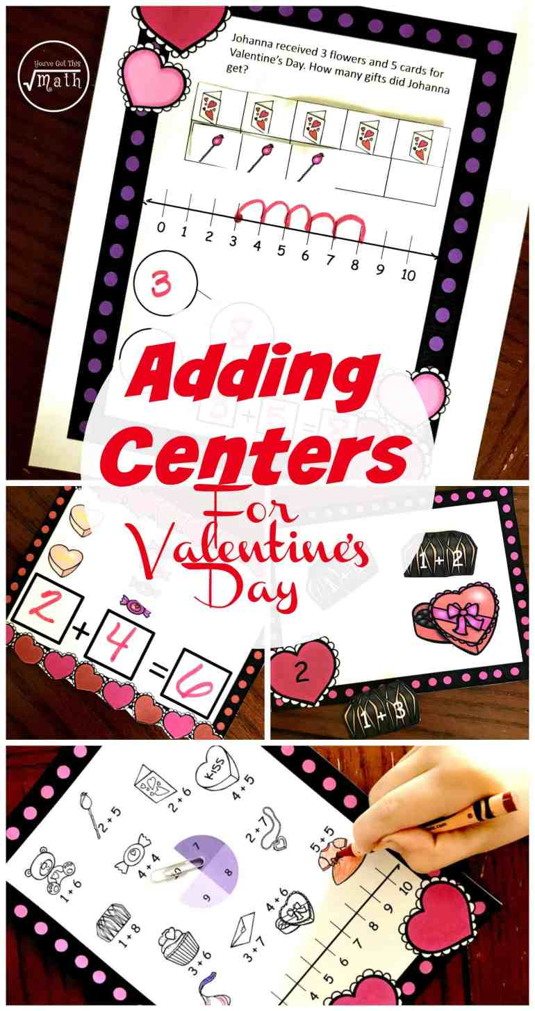 Adding within 10 is an important skill littles need to master. These addition activities for kindergarten w/ Valentine Theme are perfect for extra practice.