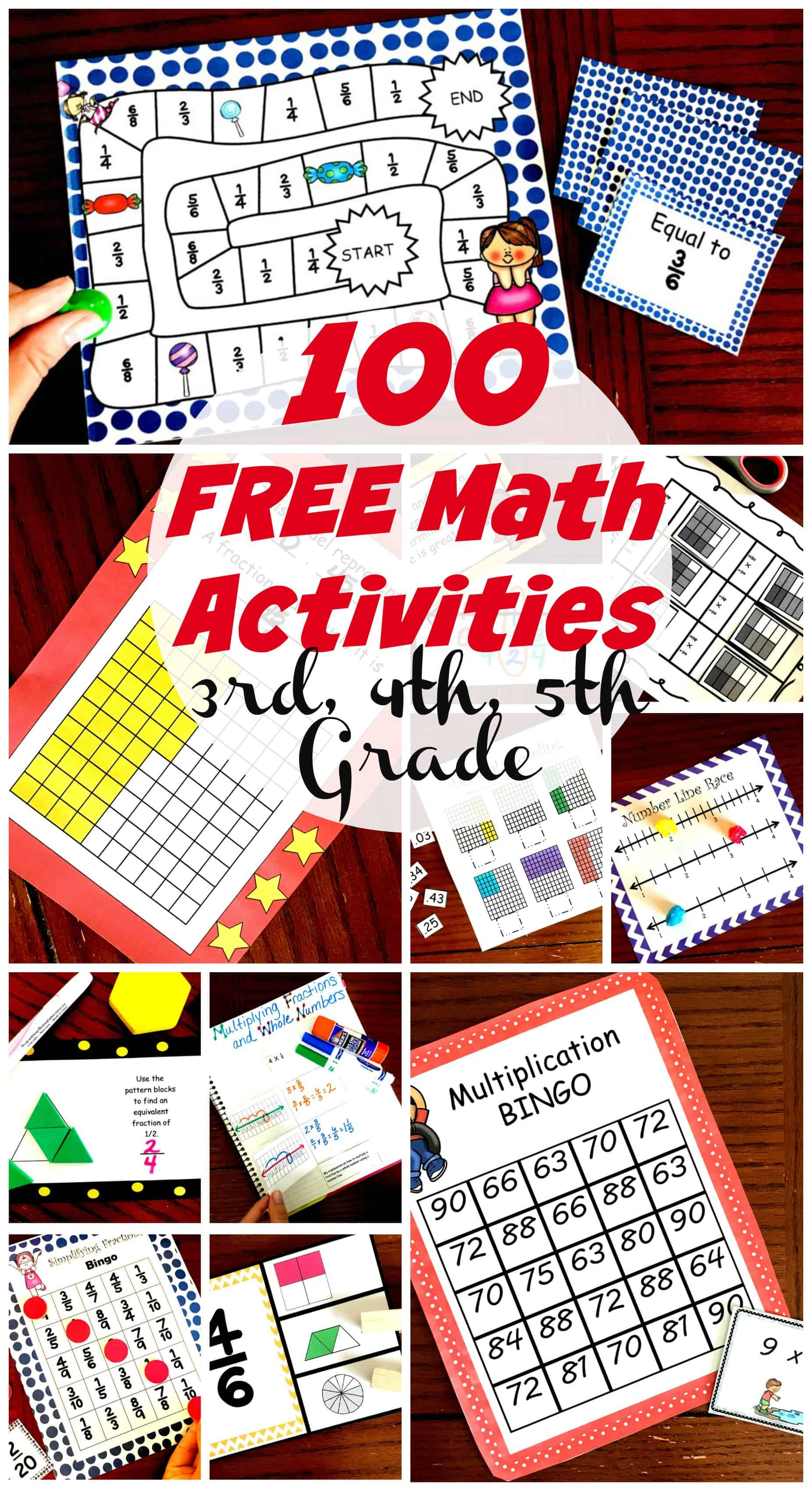 If you are on the search for fun math activities, look no further. These activities designed for 3rd, 4th and 5th-grade students are engaging and free.