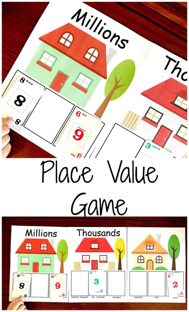 Transformative image inside place value games printable