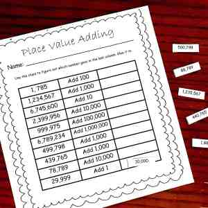 cut and paste place value 2