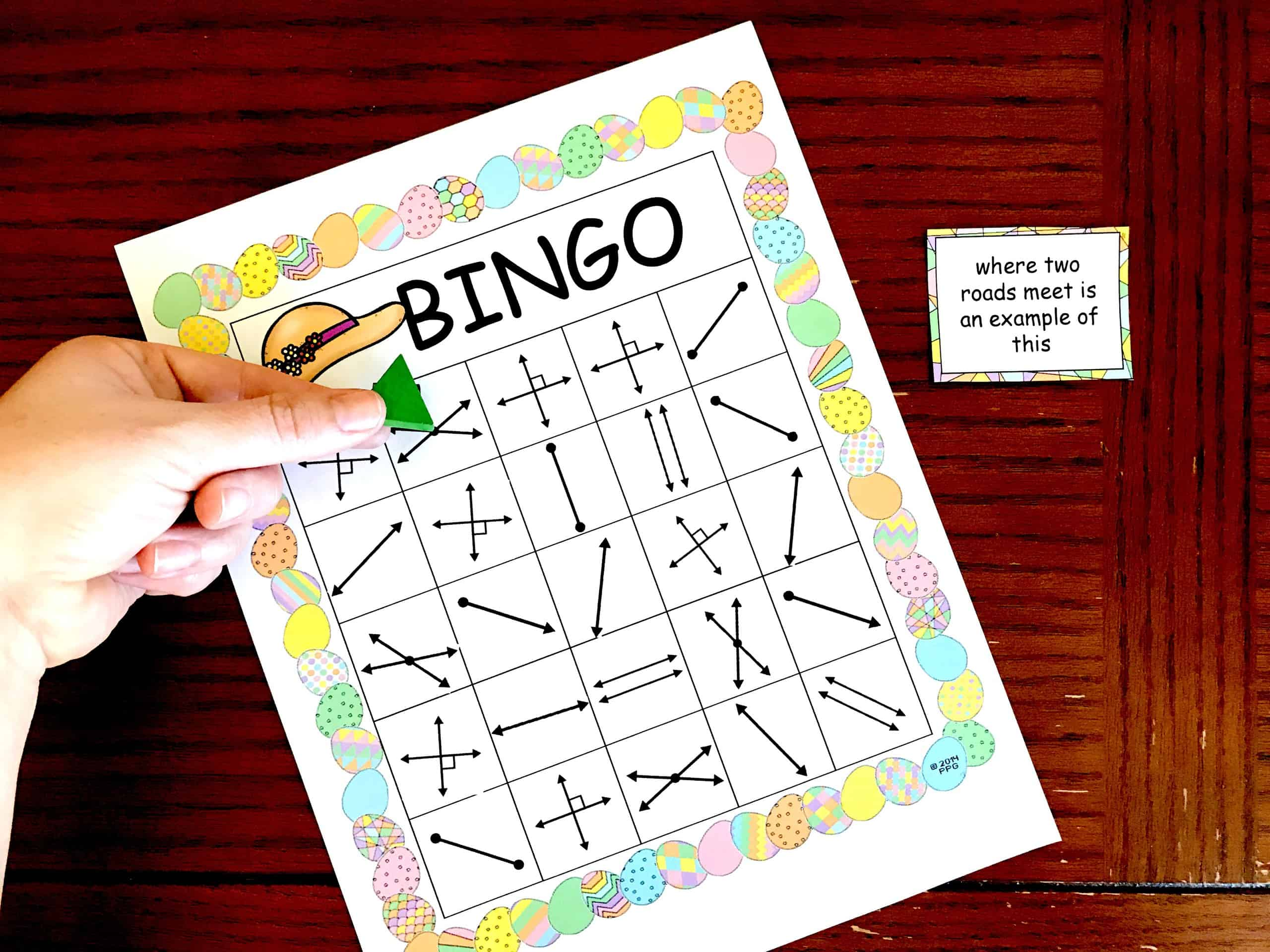 Get A Free Geometry Bingo To Work On Lines Rays Parallel Lines Etc
