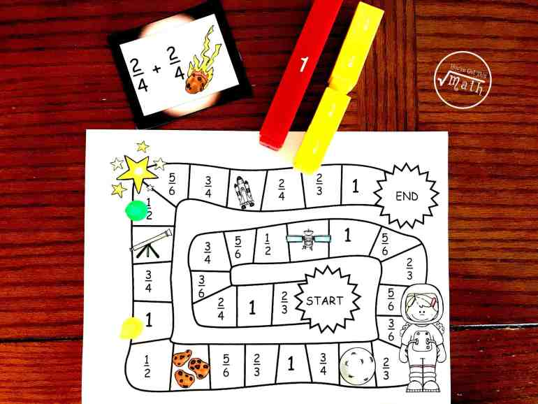 This free Adding Fractions Activity is perfect for working on adding fractions with common denominators and learning facts about space. And who doesn't like to play games?