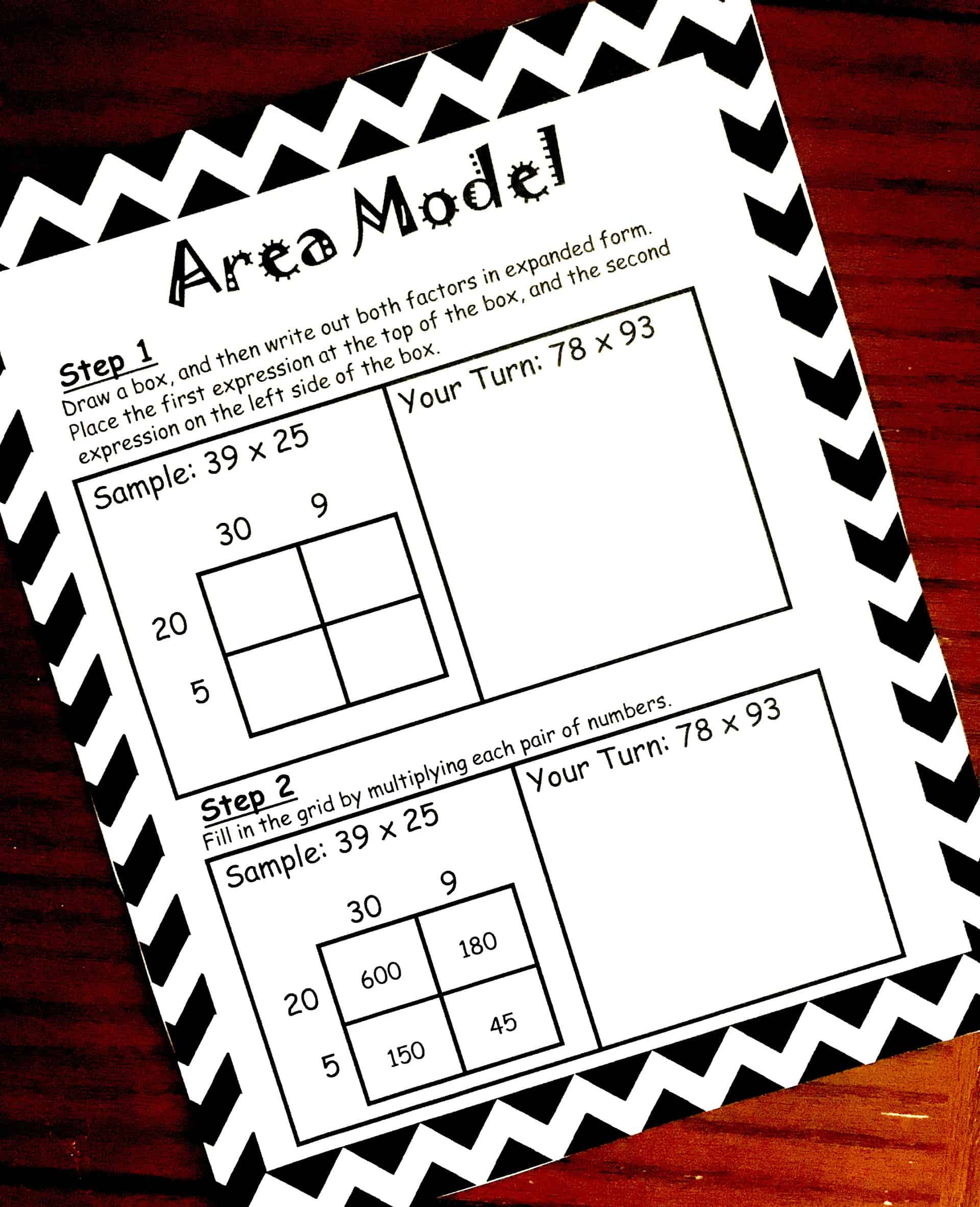 How to Teach Multiplication Using Area Model (Free Printable) [ 2888 x 2346 Pixel ]