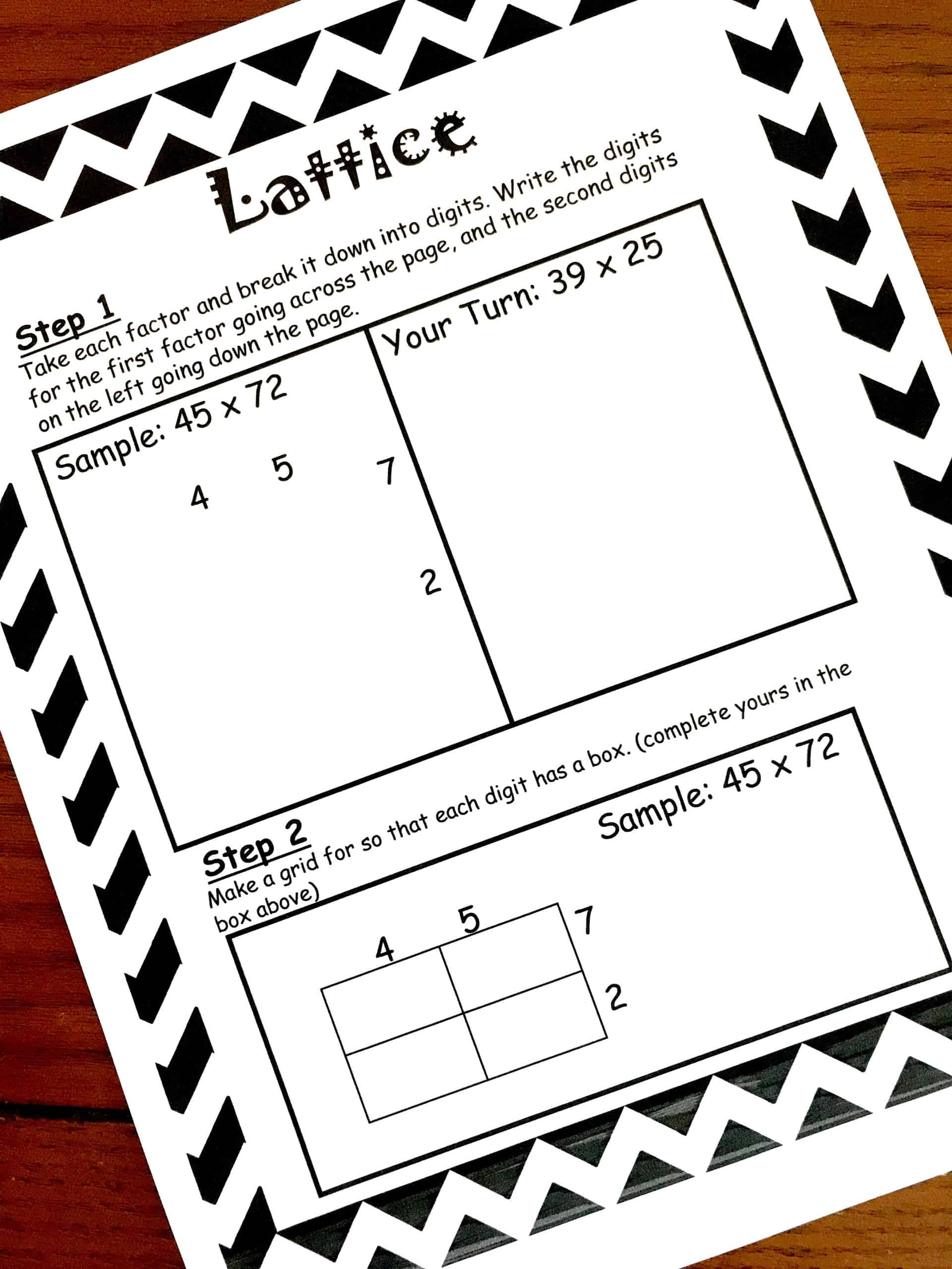 How To Teach Lattice Multiplication Includes A Free Step