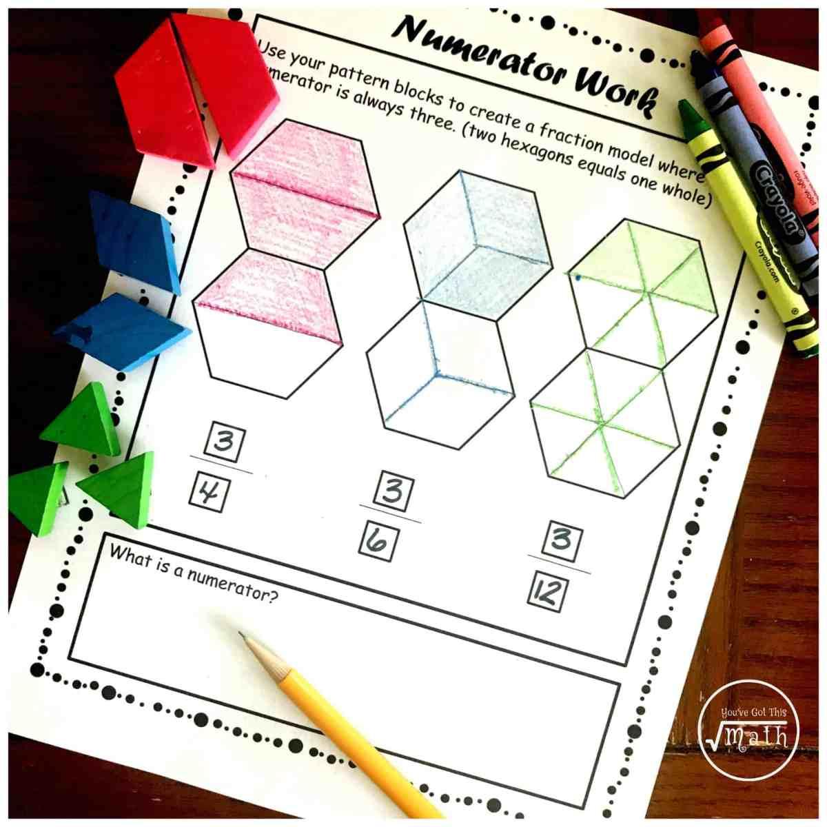 Three Steps For Teaching Numerators and Denominators