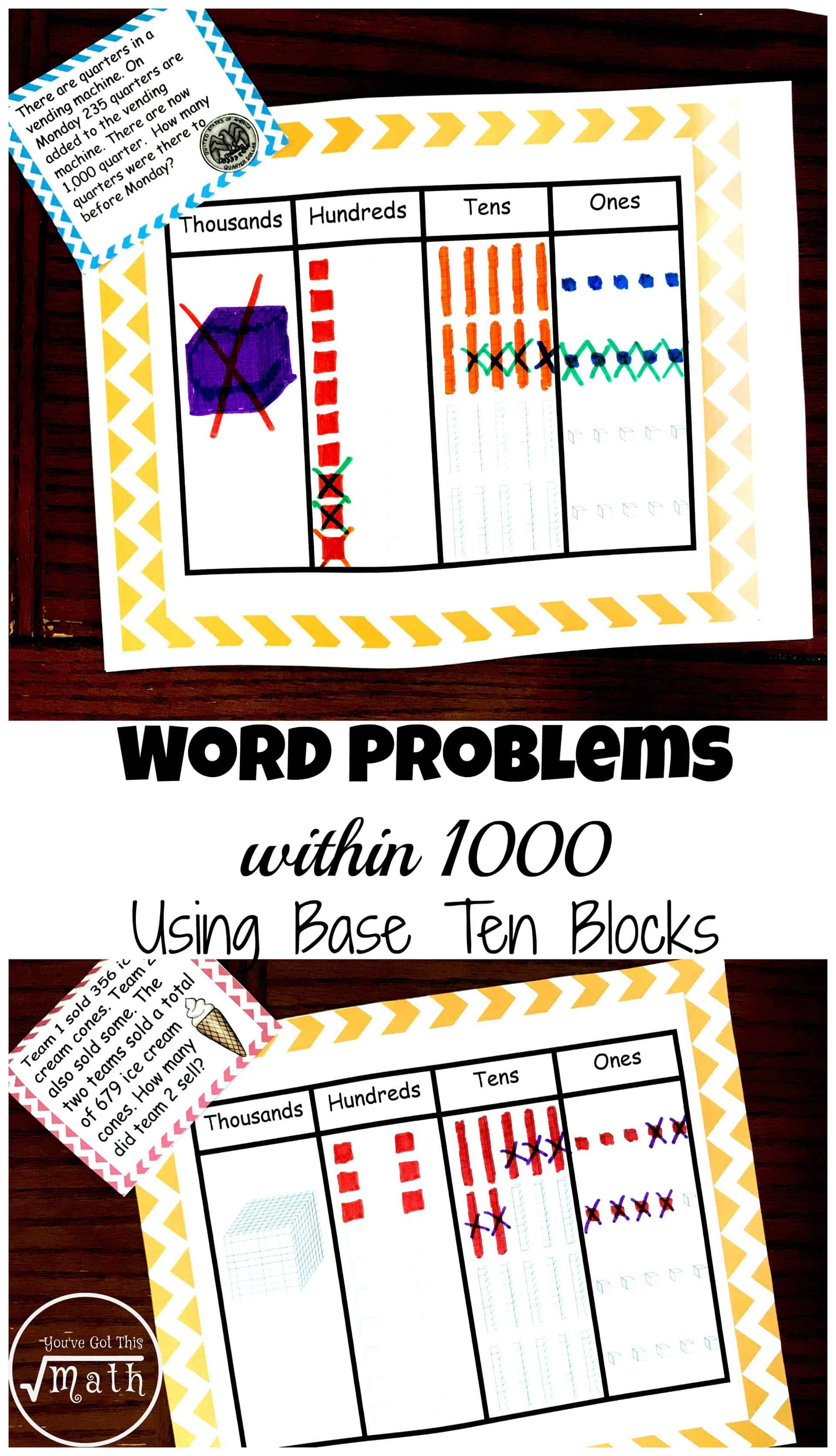 hight resolution of Word Problems Within 1