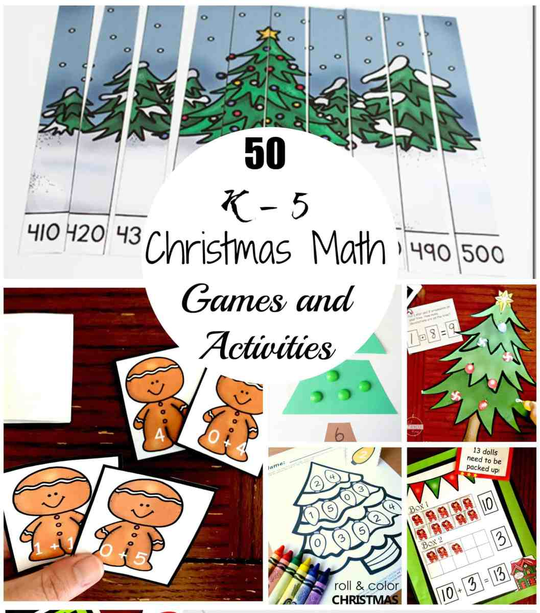 50 Christmas Math Games and Activities For Upper and Lower Elementary Children