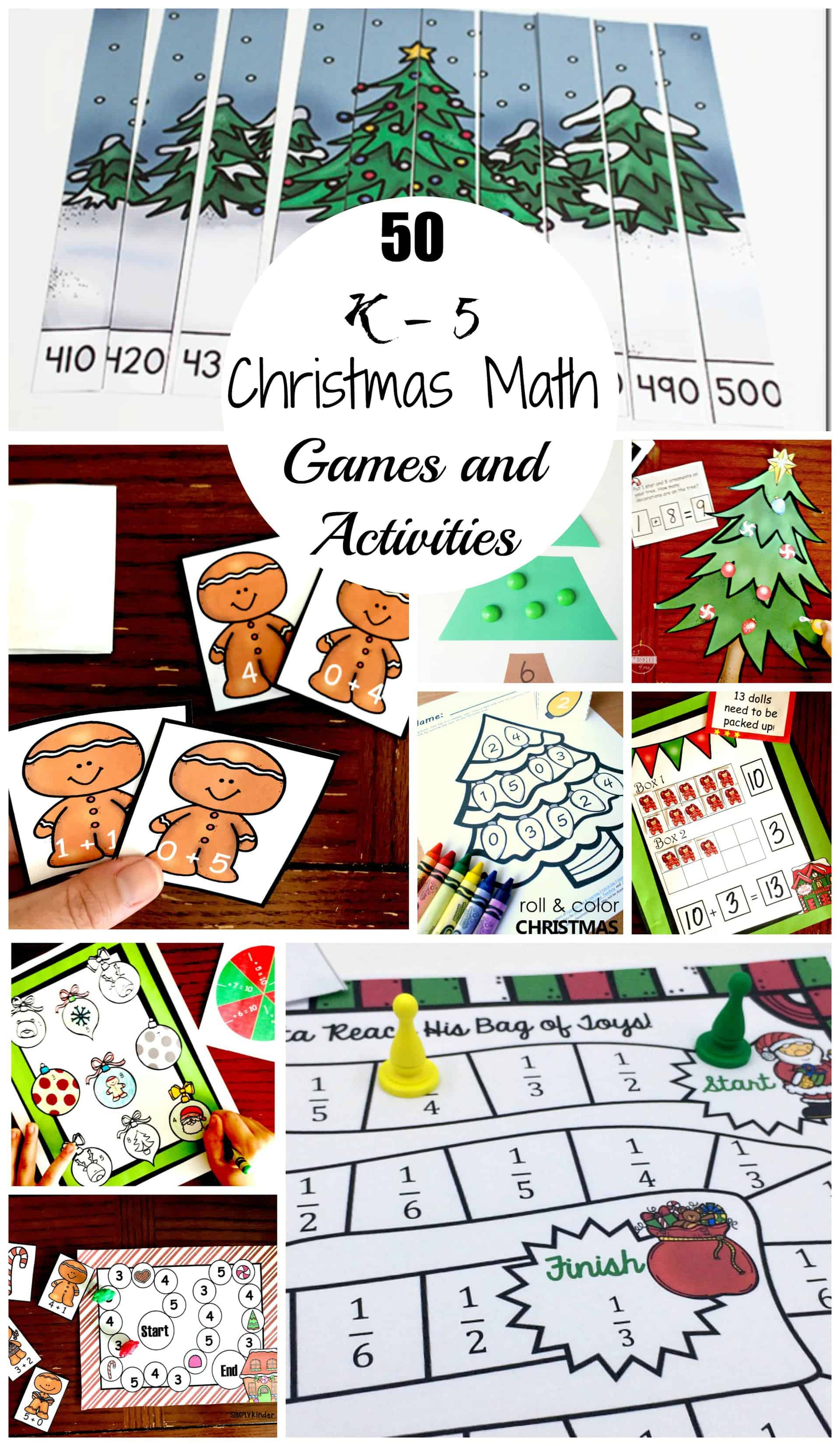 50 Christmas Math Games and Activities For Upper and Lower Elementary  Children [ 3400 x 1976 Pixel ]