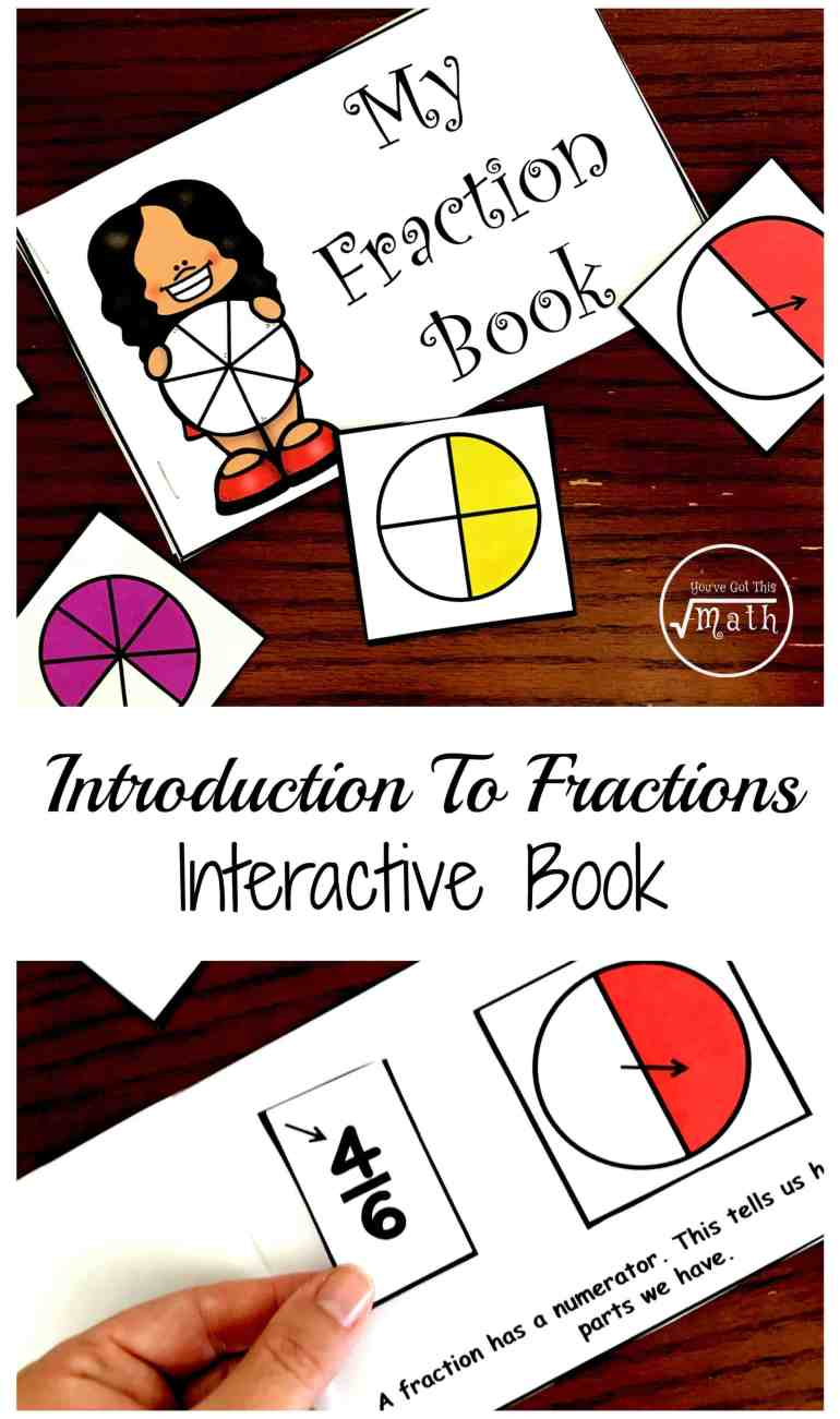 free fraction book printable to develop vocabulary