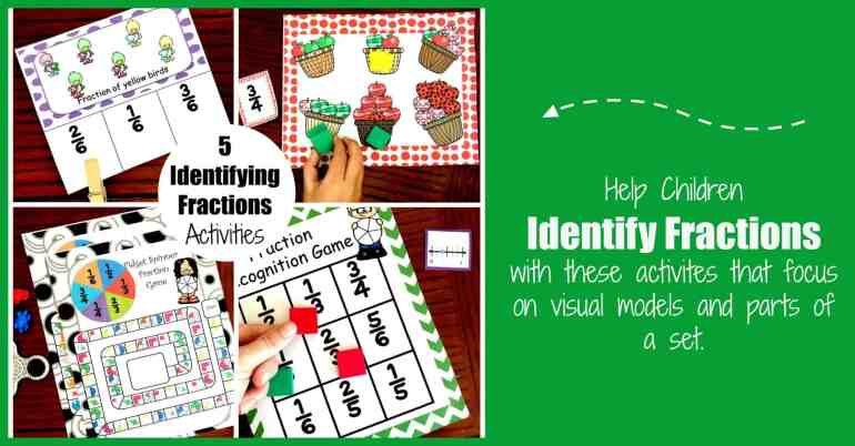 these five fraction activities help children learn to identify fractions