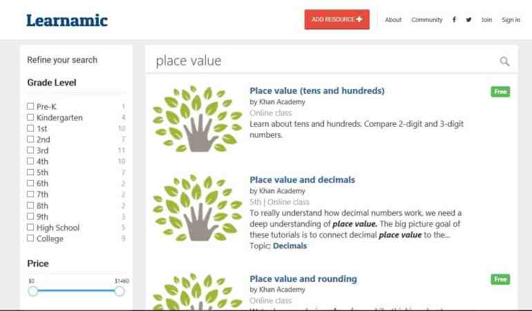 place value search