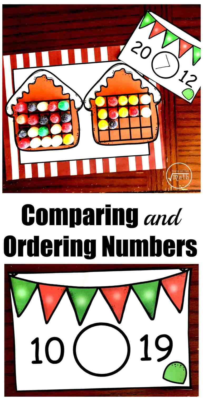 This hands-on activity gets children comparing and ordering numbers using Gum Drops, ten frames, and Gingerbread House. Perfect for a Christmas Math Center.