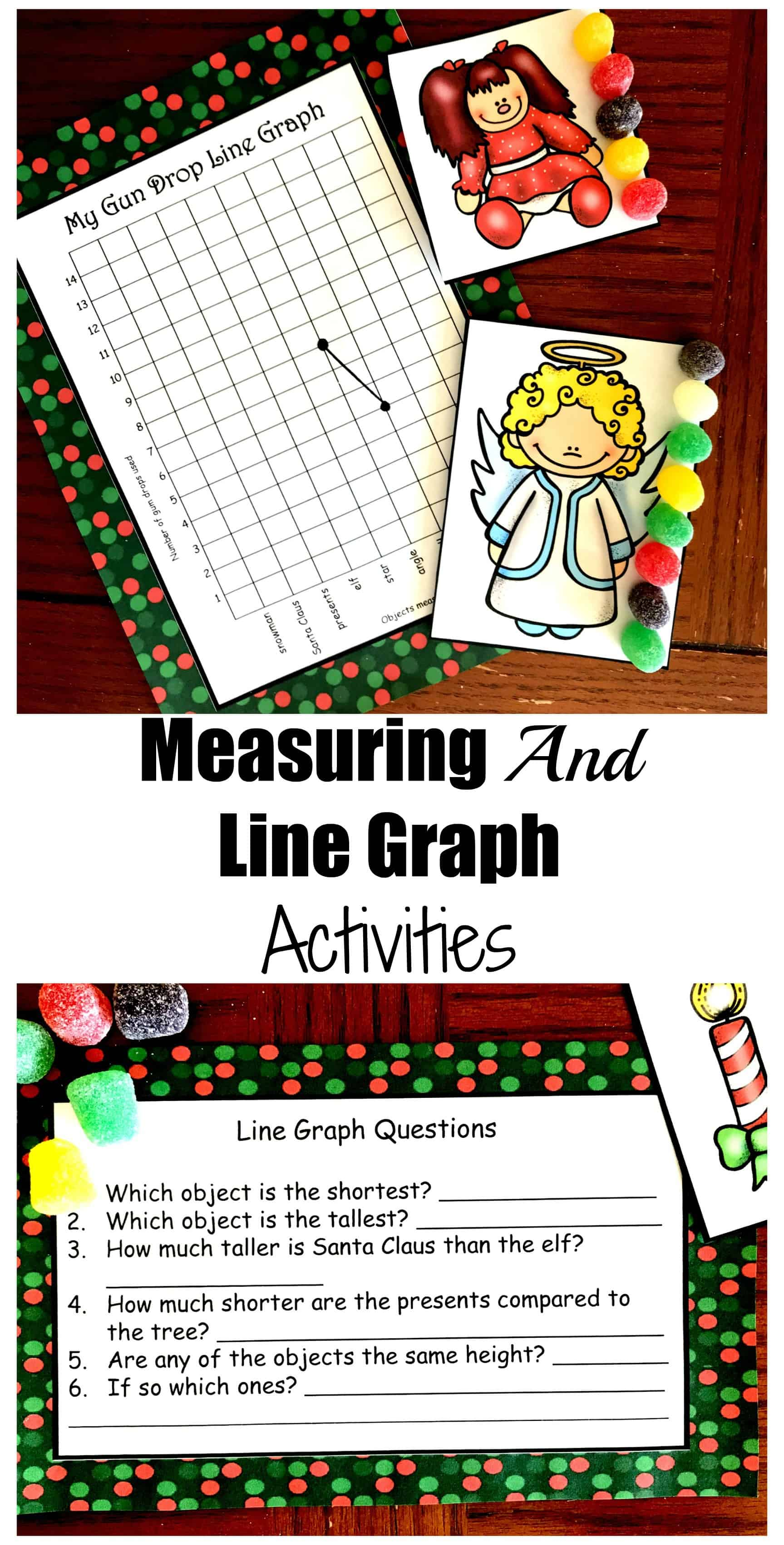 This free Christmas Measuring and Line Graph Activity is a great way to work on graphing and measuring objects to the nearest unit.