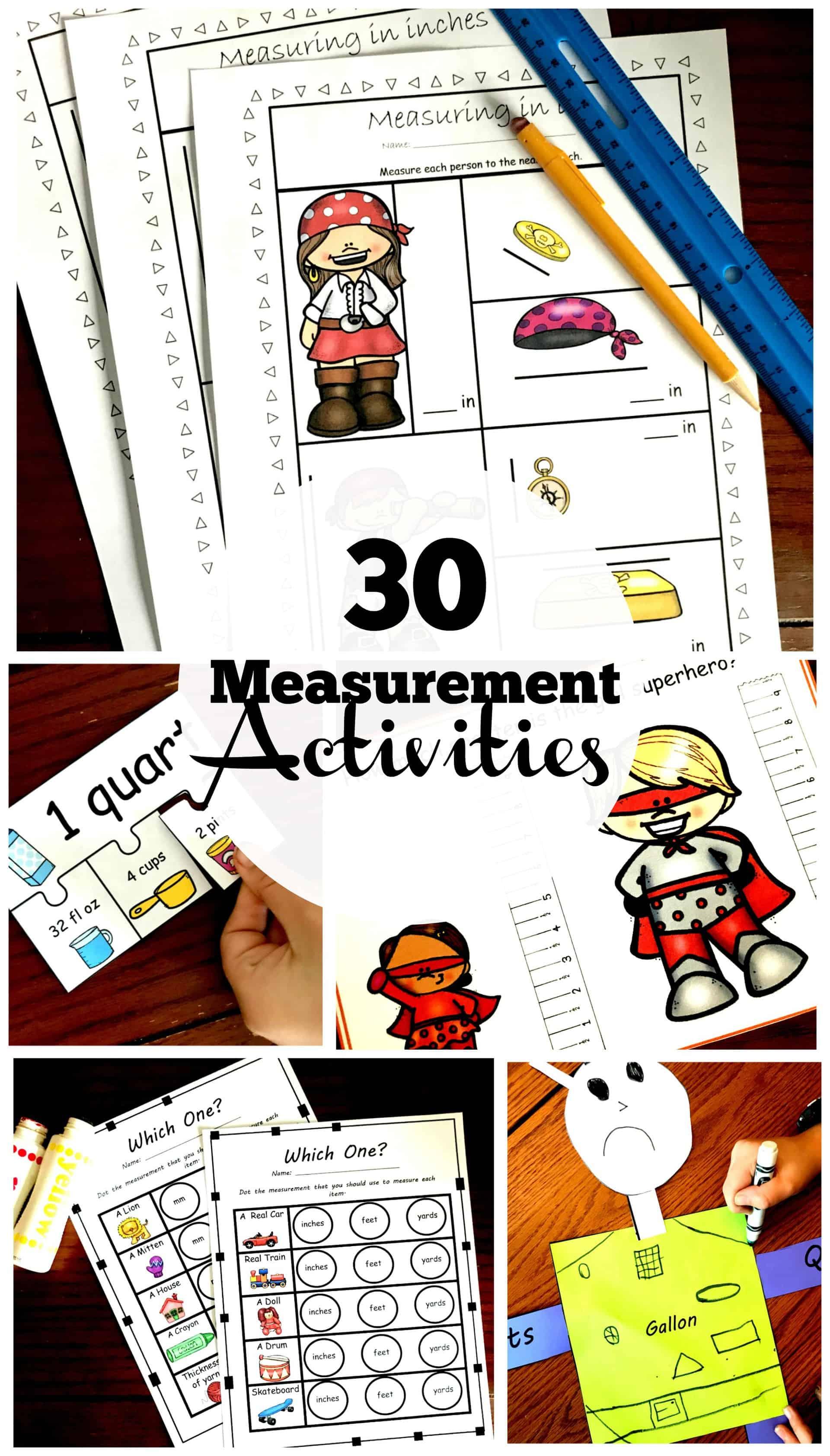 30 of my Favorite Hands - On Measurement Activities [ 3400 x 1940 Pixel ]
