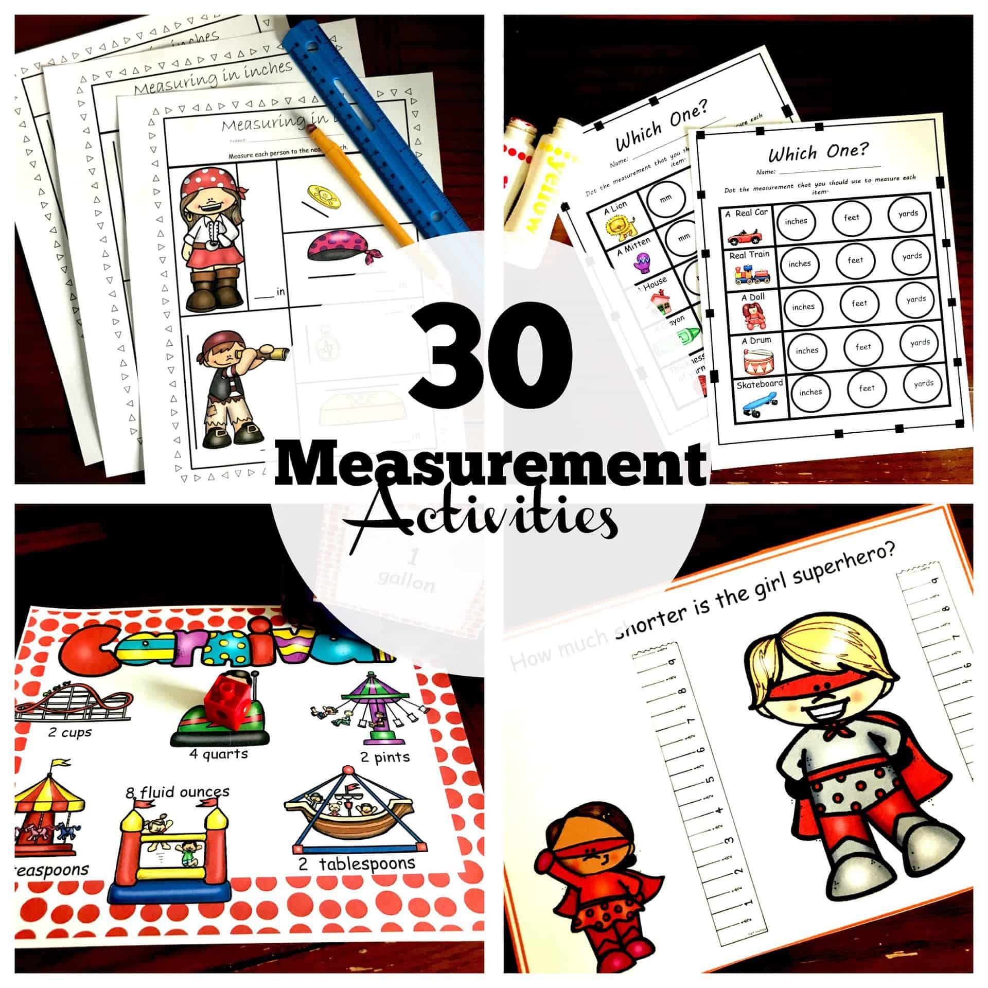30 of my Favorite Hands - On Measurement Activities [ 2000 x 2000 Pixel ]