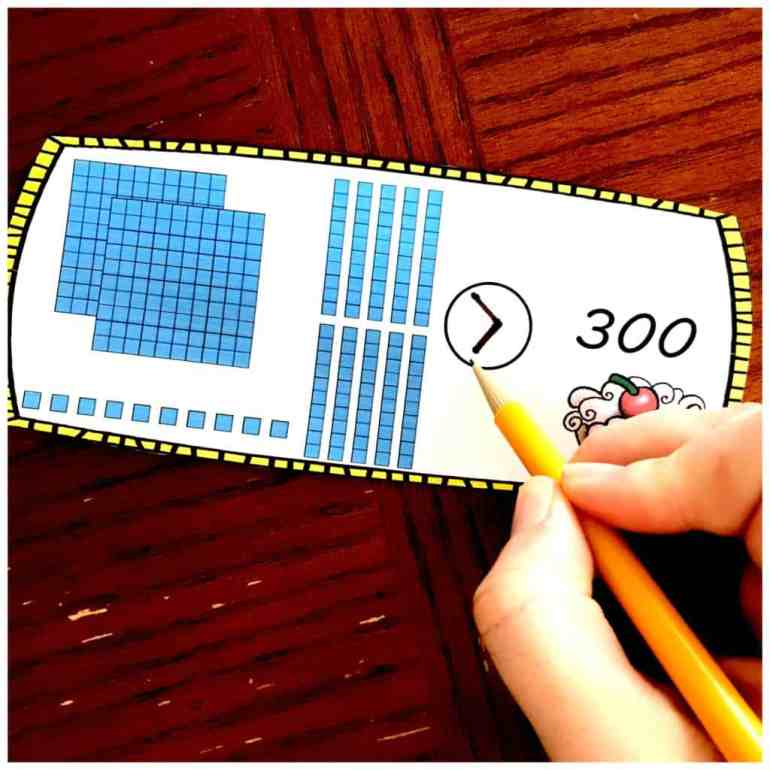 Free Comparing Numbers With Base Ten Blocks Worksheets