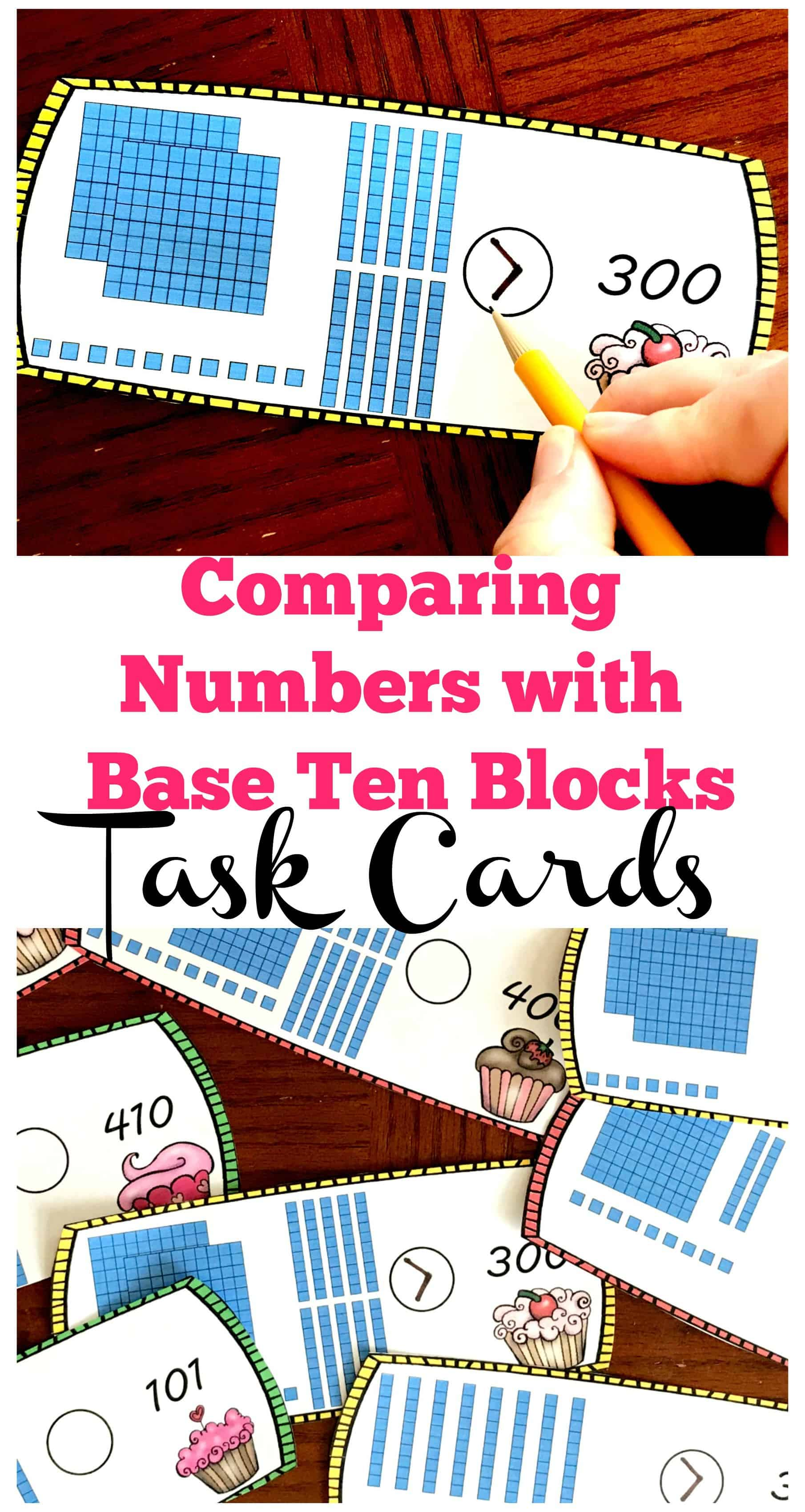 FREE Comparing Numbers with Base Ten Blocks Worksheets [ 3400 x 1810 Pixel ]