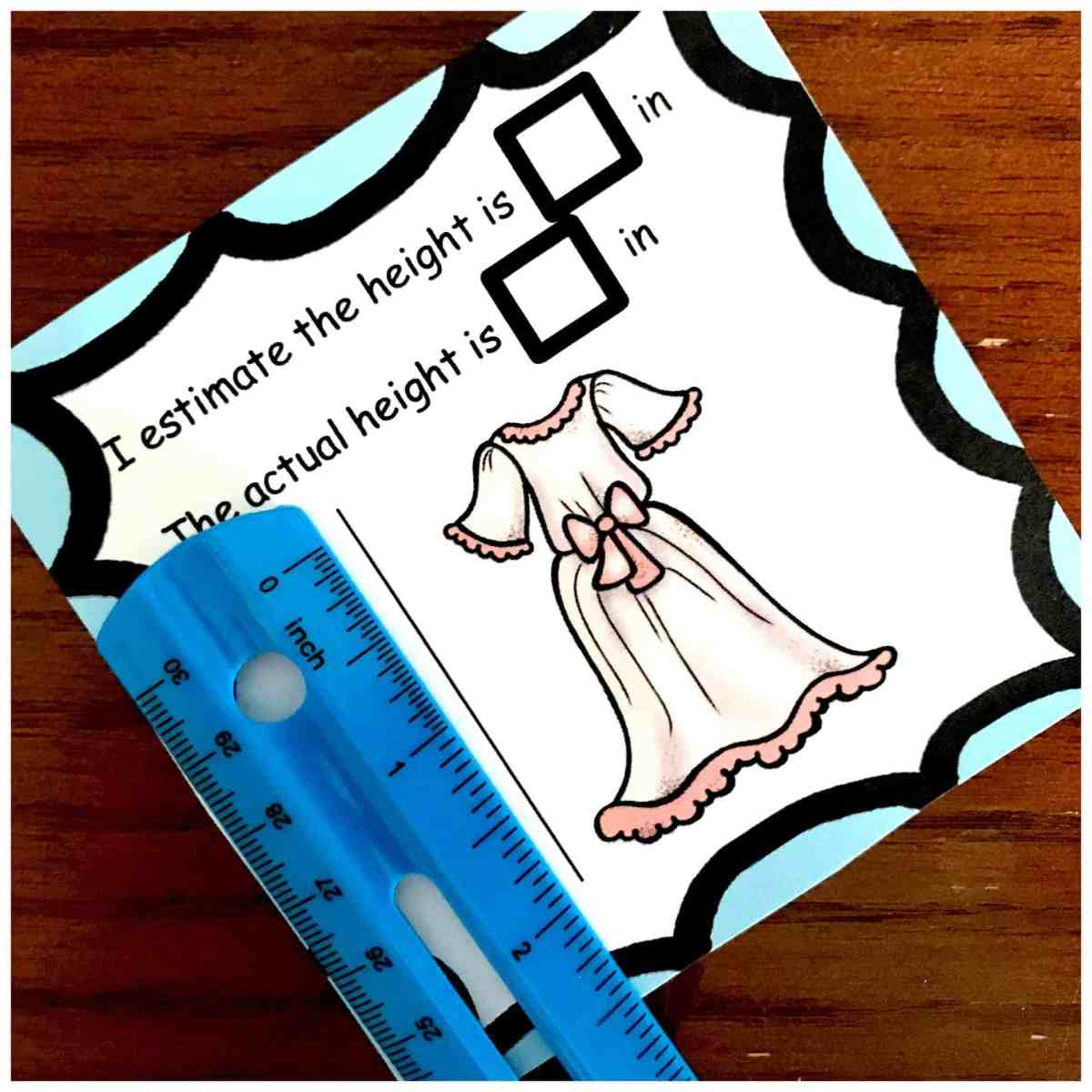 Grab your FREE Estimating Length Worksheets For Centimeters and Inches