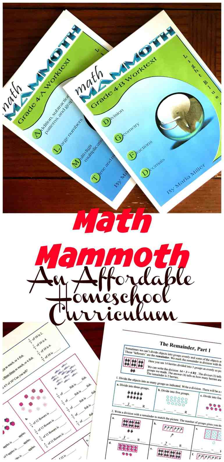 Math Mammoth is an affordable math program that has a wonderful focus on place value. As children work through math problems they learn more about place value through modeling, number lines, and area models.
