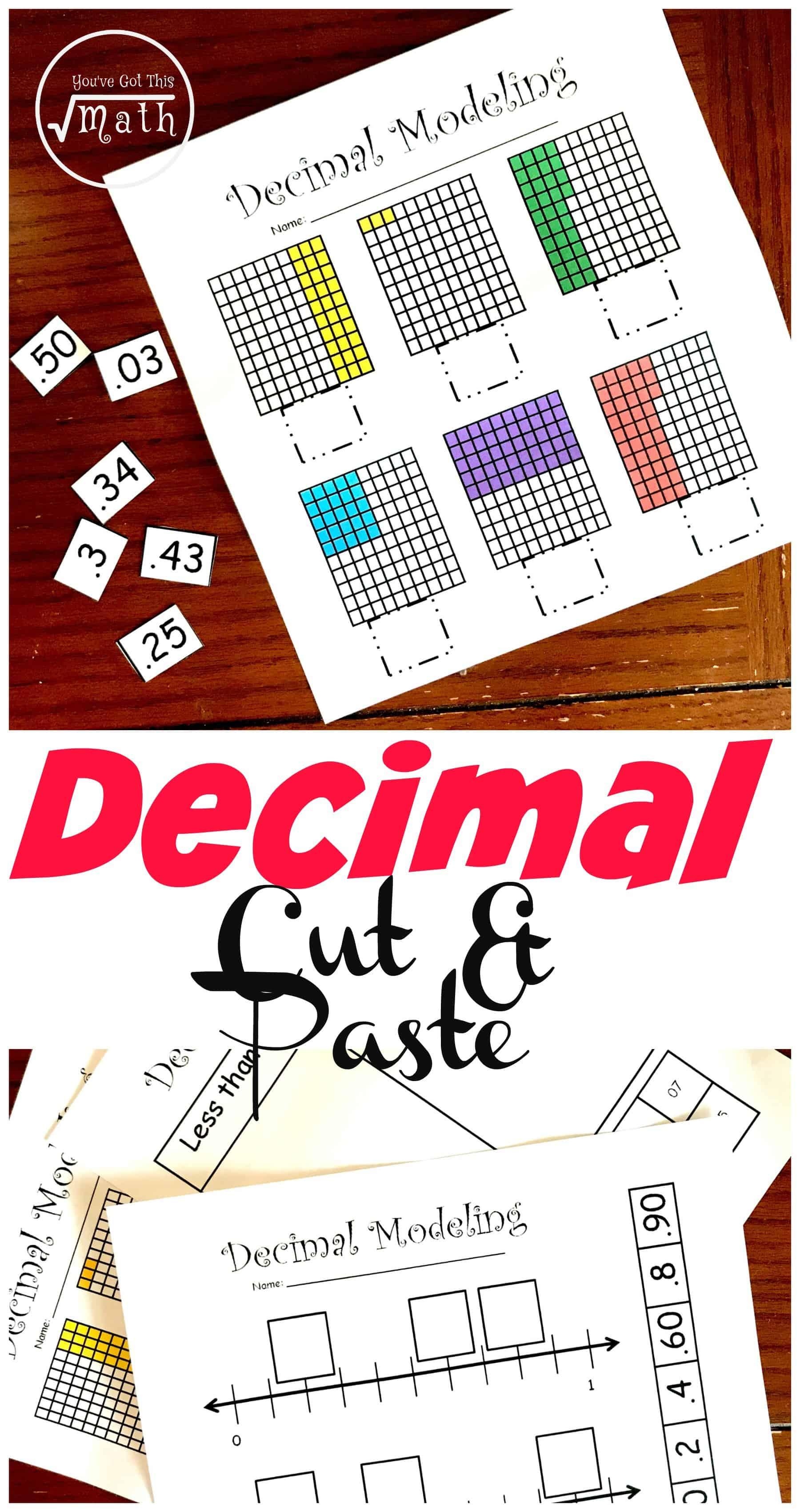 4 Hands-On Decimal Place Value Worksheets [ 3400 x 1800 Pixel ]