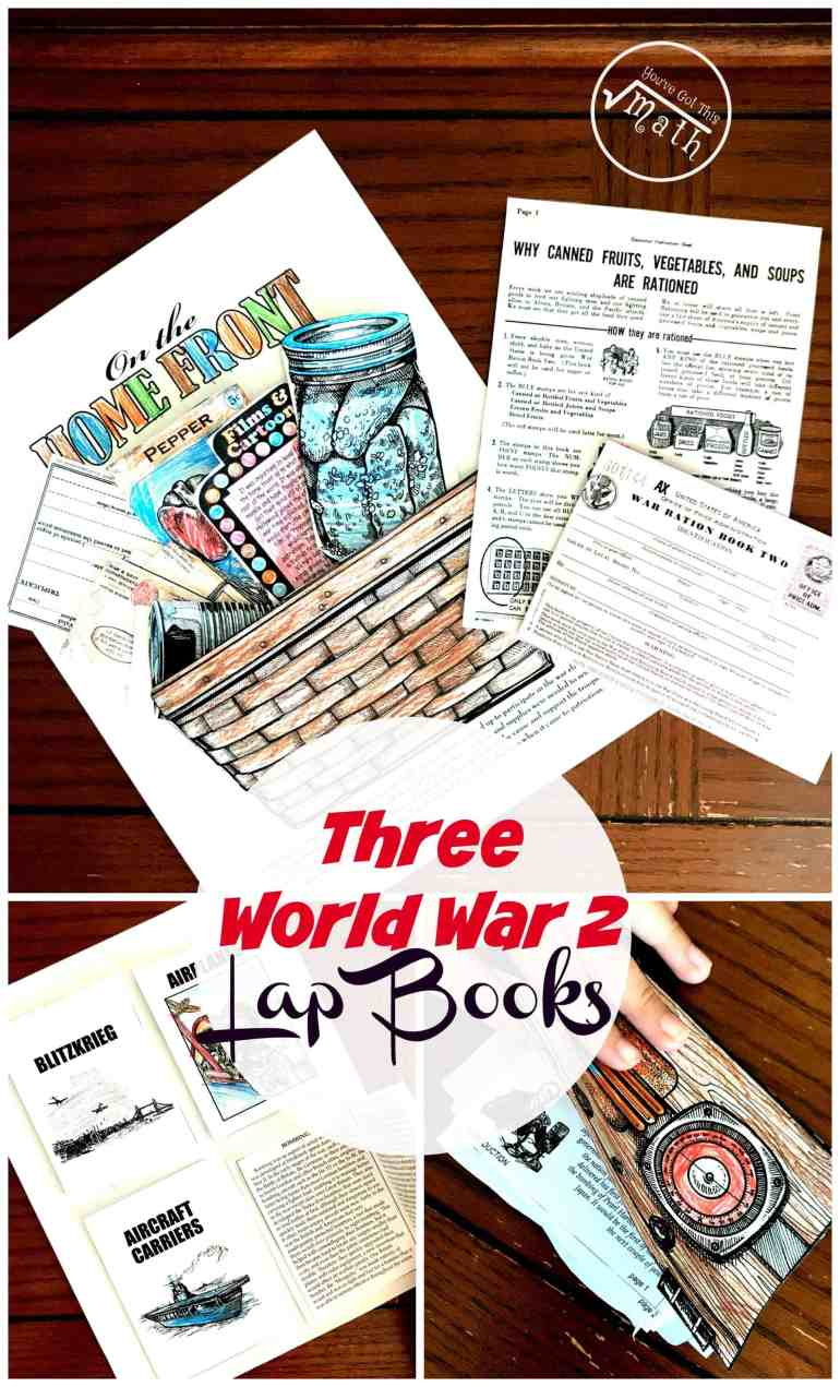 These World War 2 Lap Books are a wonderful way to learn about Roosevelt and his fireside chats, weapons used during WW2, and what was happening at home while the soldiers fought.