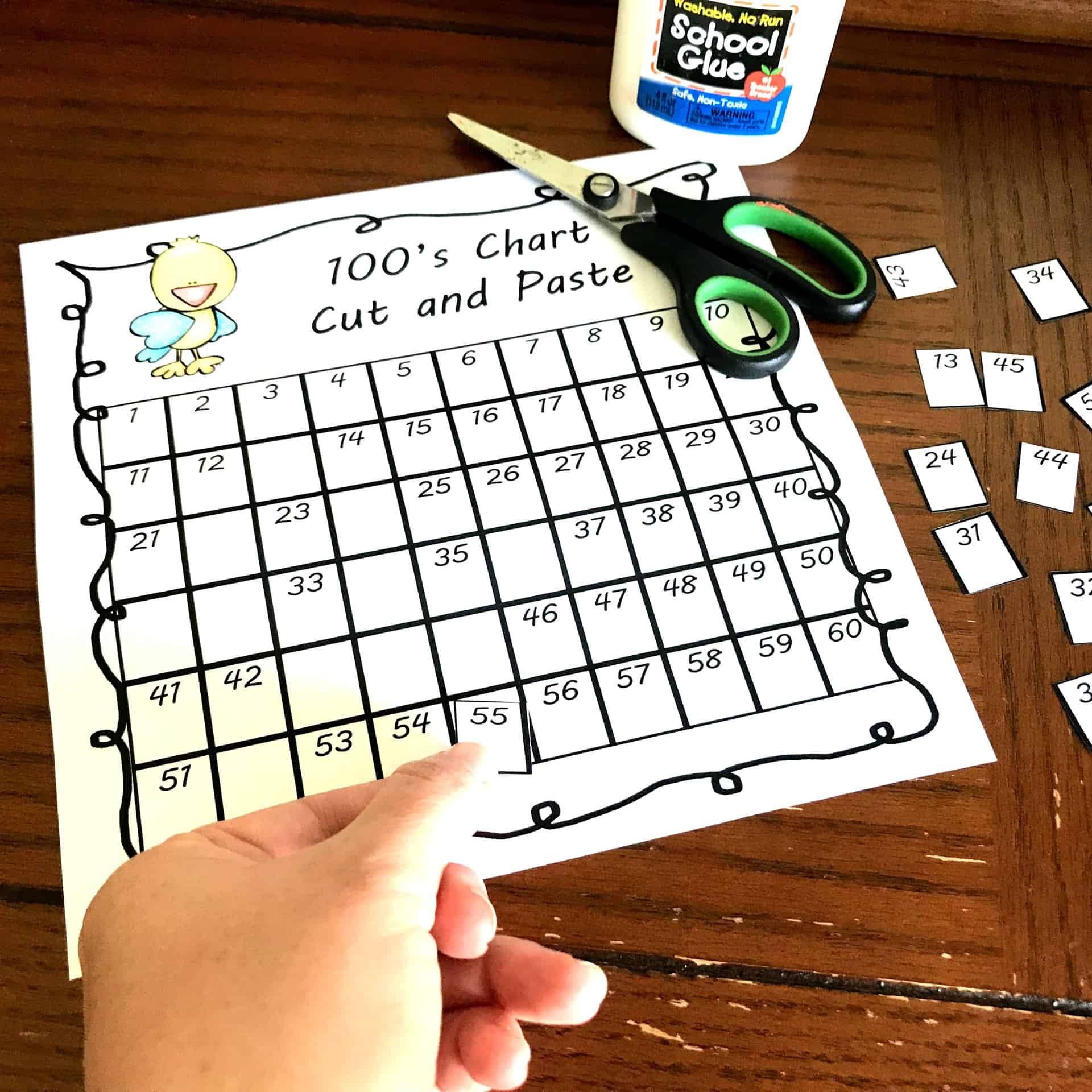 5 FREE Hundreds Chart with Missing Numbers - Cut and Paste