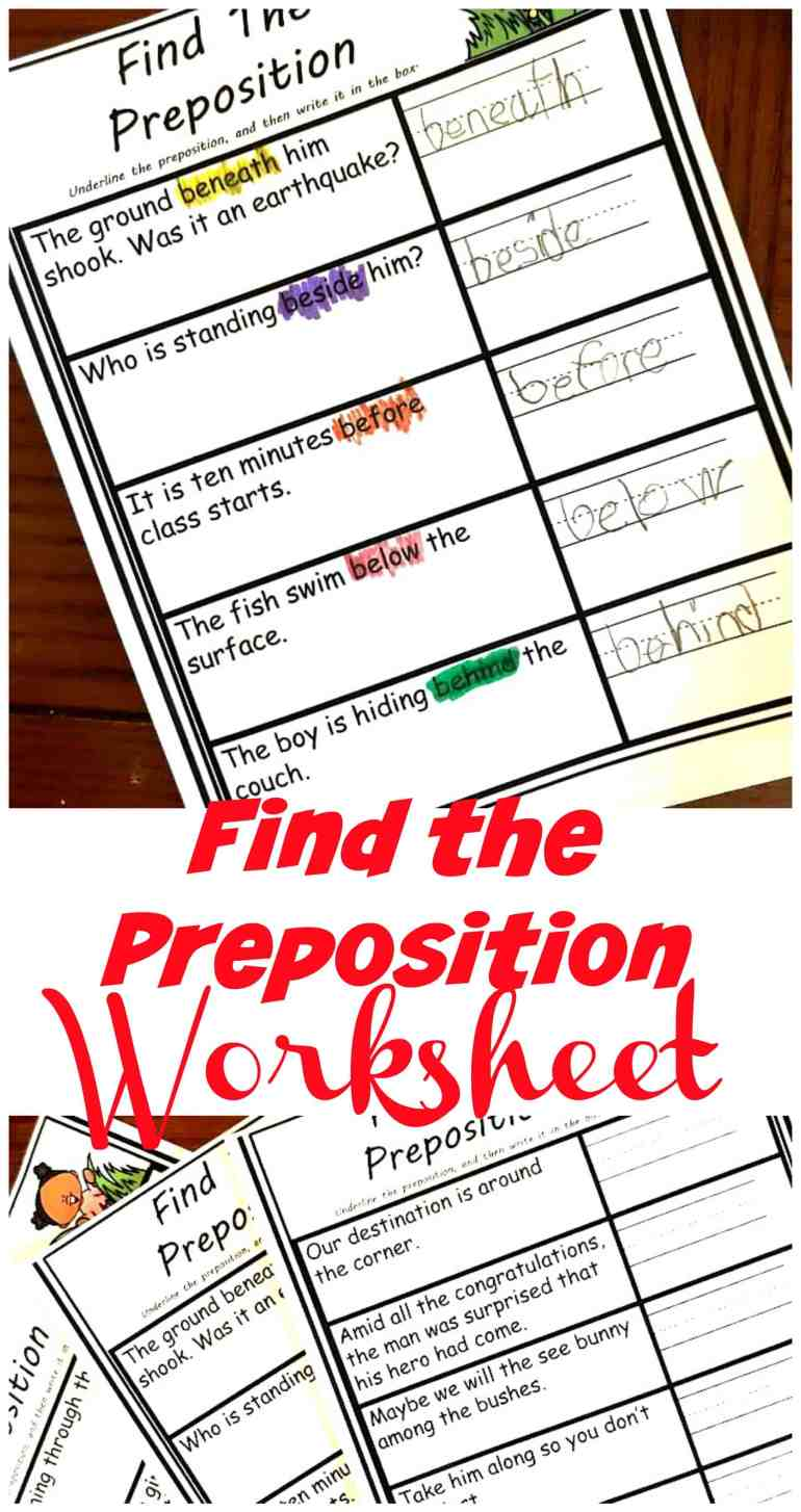 These simple preposition worksheets are very simple and easy to use. They are perfect for beginners who need a little practice finding prepositions in a sentence.