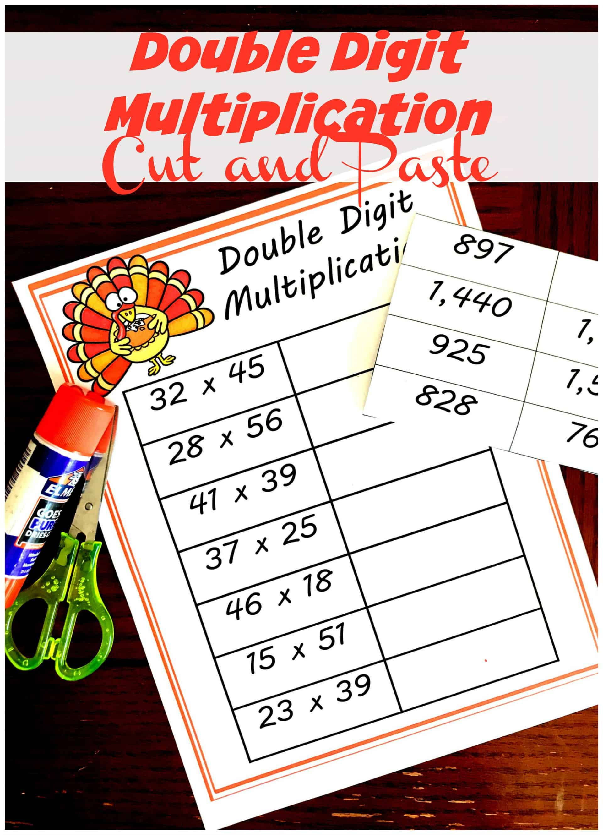FREE Cut and Paste Double Digit Multiplication Worksheets [ 3188 x 2303 Pixel ]