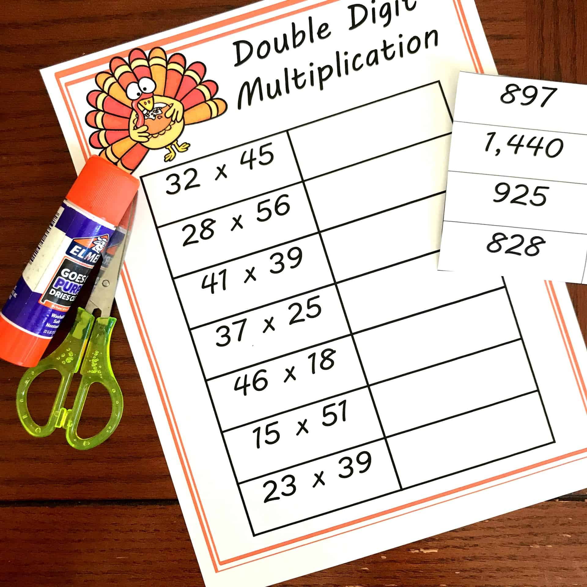 FREE Cut and Paste Double Digit Multiplication Worksheets [ 2709 x 2709 Pixel ]