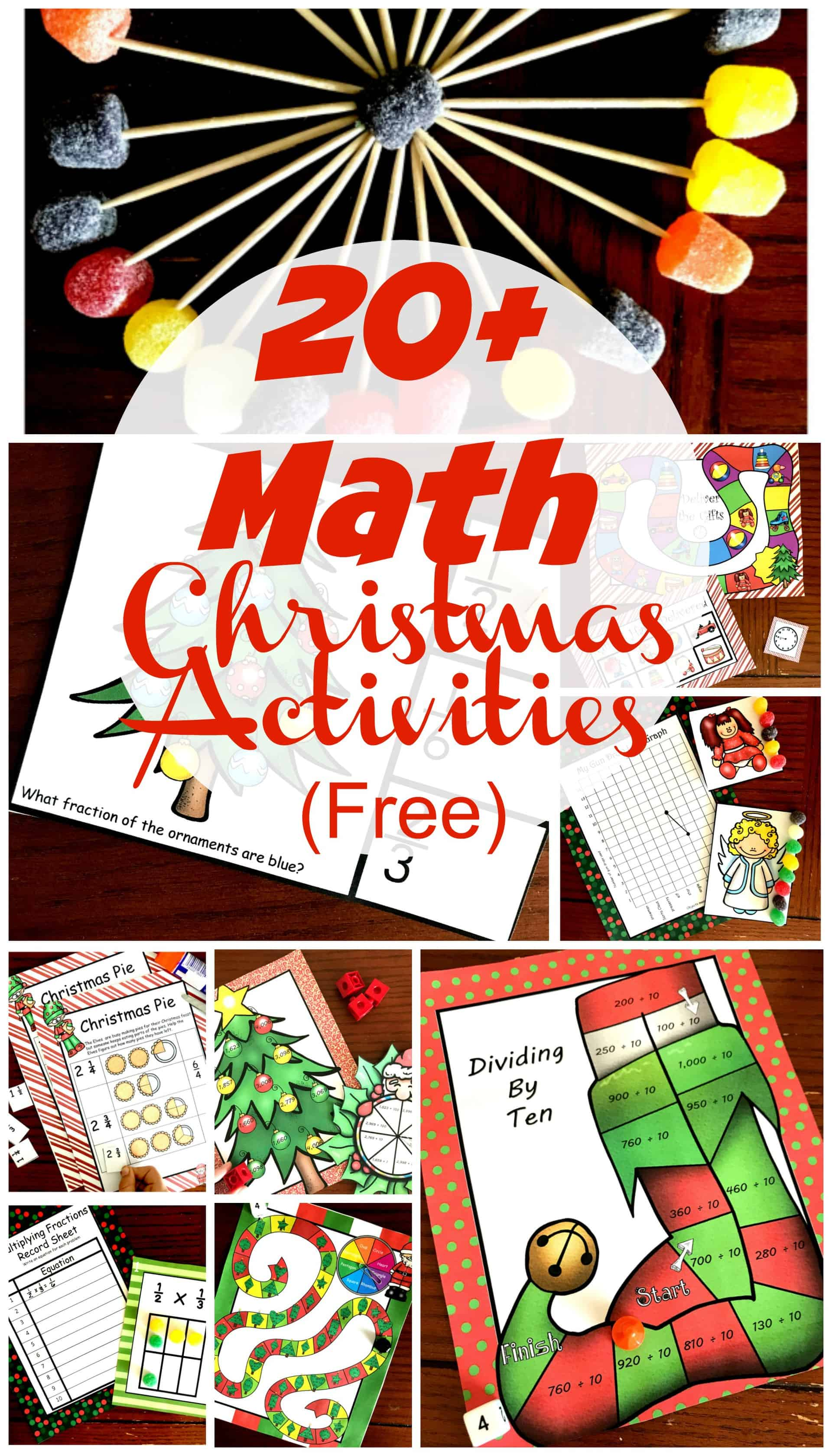20 FREE Christmas Math Activities for K - 5th Grade [ 3400 x 1943 Pixel ]