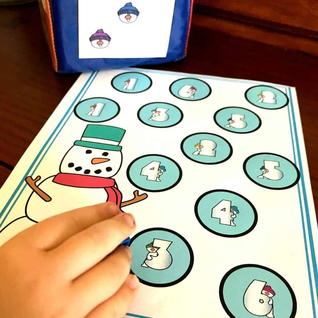 Free Adorable Snowman One To One Correspondence Activity