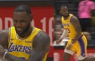 LeBron James Lakers İle Hazırlık Maçında Şov Yaptı