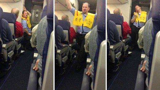 uçuş güvenliğini erotik şekilde anlatan kabin memuru