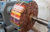 Binlerce Renkli Kalemden Ahşap Donut Yapımı