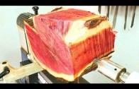 Kızıl Ağaçtan Yapılma Orjinal Vazo (Aşırı Kıymetli)
