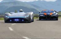 Bugatti Chiron ve Mercedes Benz Vision EQ Kapışması