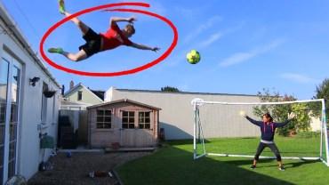 Futbol Topu ile Çatıdan Atlayarak Gol Atma Challenge