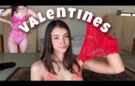 Seksi Kadından Kışkırtıcı Sevgililer Günü Çamaşırları