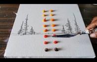 Akrilikle Yapılan Kolay Teknikli Soyut Manzara Çizimi