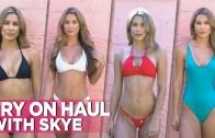 Ateşli Skye ile Birbirinden Özel Seksi Bikini Provası