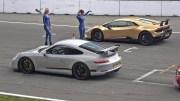 Lamborghini Huracan vs Porsche 991 GT3 – Muhteşem Yarış
