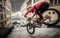 Fransa'da Yapılan Şehir İçi Ekstrem Bisiklet Sürüşü